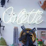 """Diseño, fabricación artesanal y montaje de elemento Neón """"Colette"""" con estructura tipográfica personalizada y construcción en tubo de neón blanco 6000 y calibre 11/12"""
